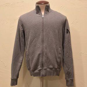 Michael Kors Mens Medium Gray Full Zip Up Jacket